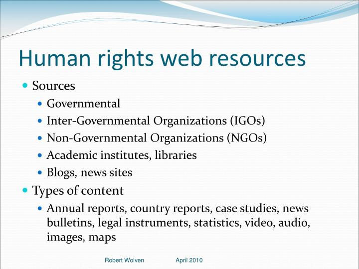 Human rights web resources