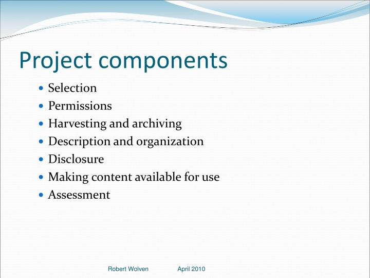 Project components