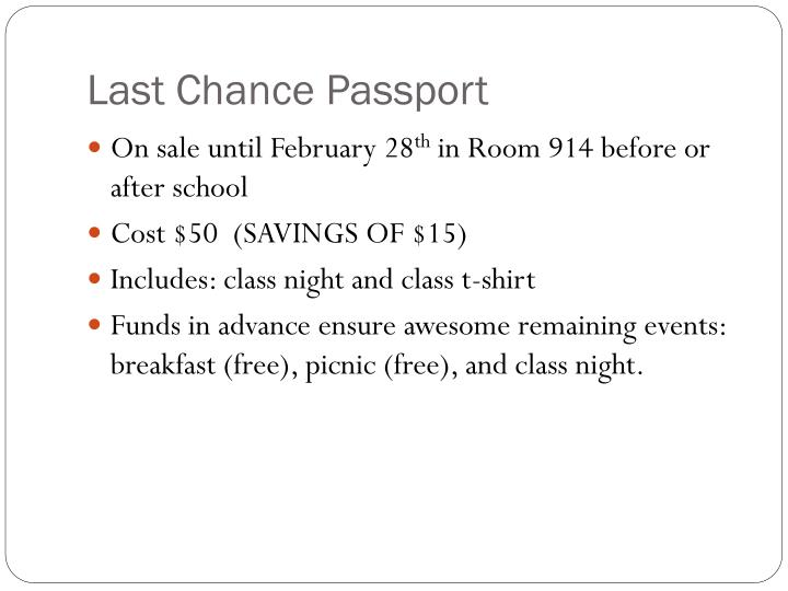 Last Chance Passport