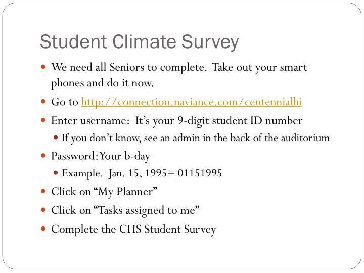 Student Climate Survey