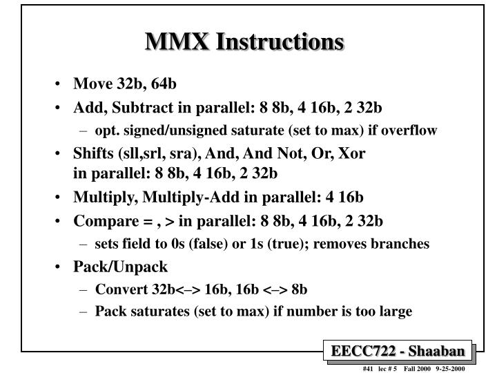 MMX Instructions