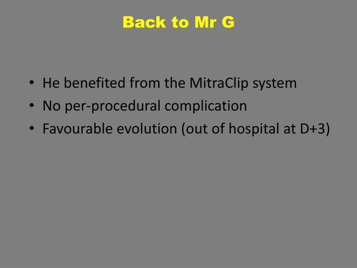 Back to Mr G