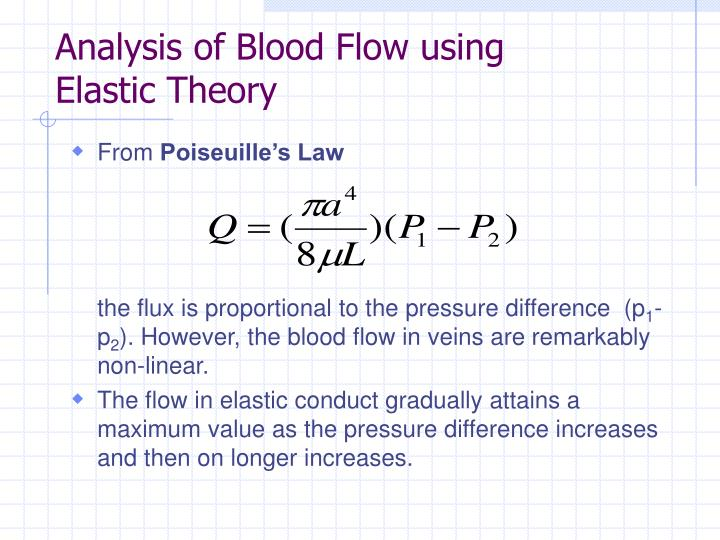 Analysis of Blood Flow using Elastic Theory