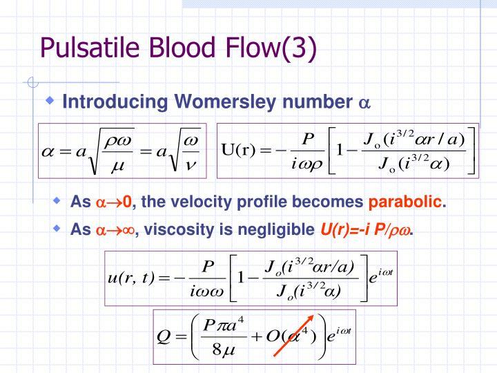 Pulsatile Blood Flow(3)