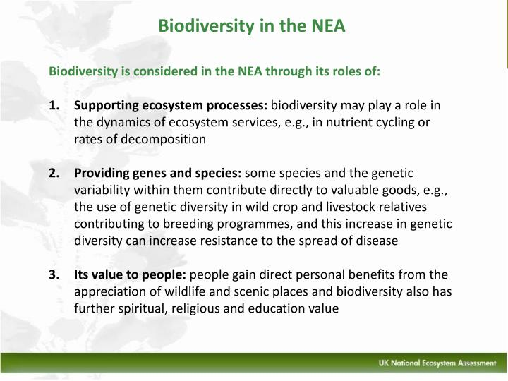 Biodiversity in the NEA