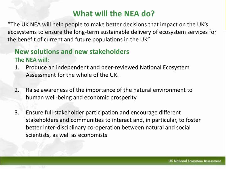 What will the NEA do?