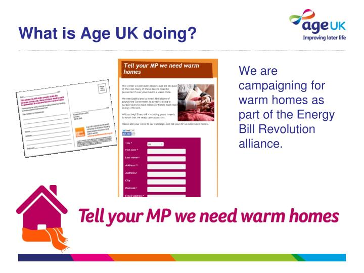 What is Age UK doing?