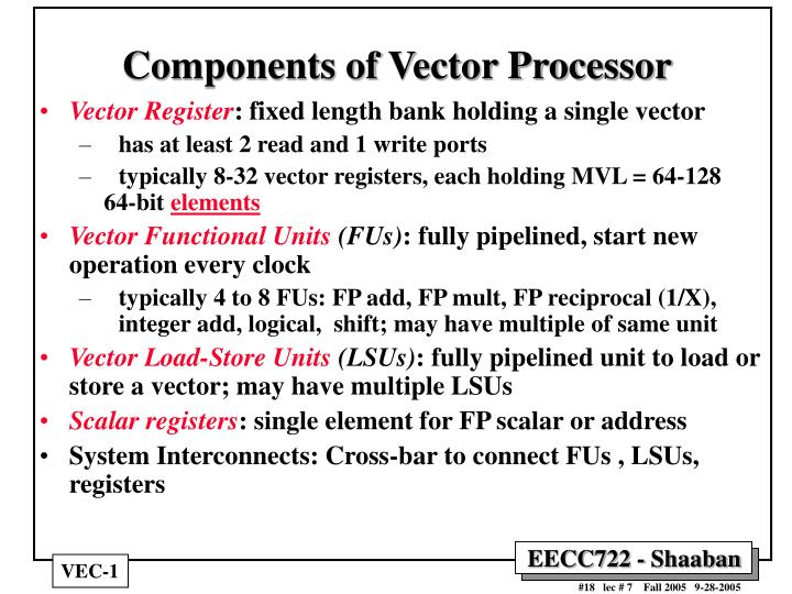Components of Vector Processor