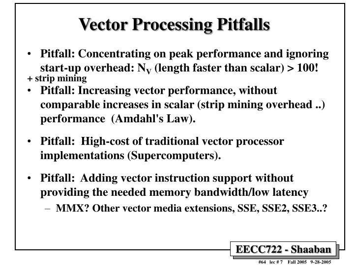 Vector Processing Pitfalls