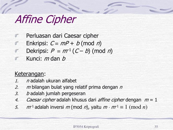 Affine Cipher