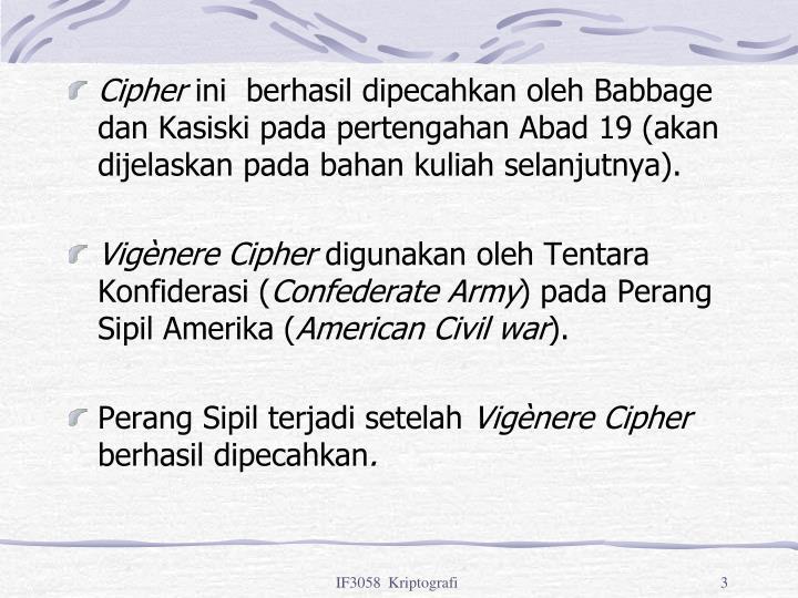 Cipher