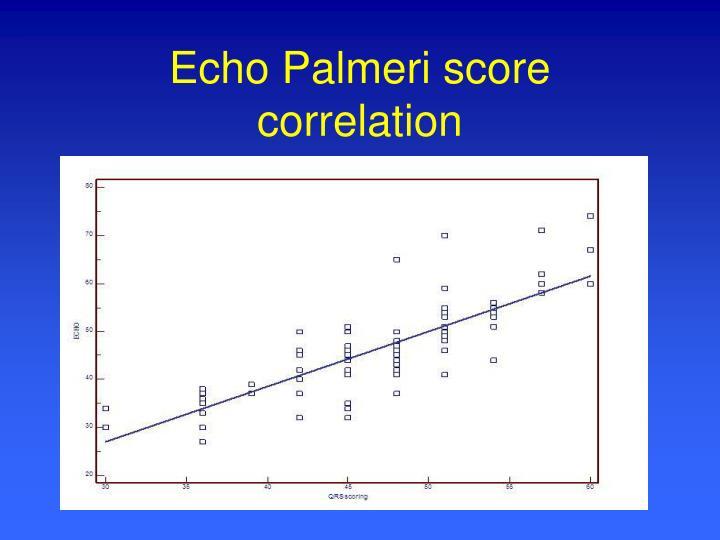 Echo Palmeri score correlation