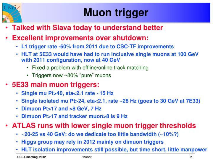 Muon trigger