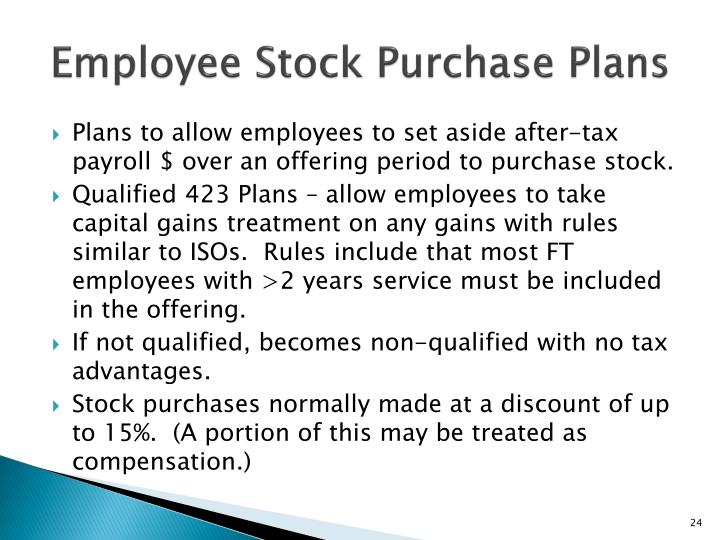 Employee Stock Purchase Plans