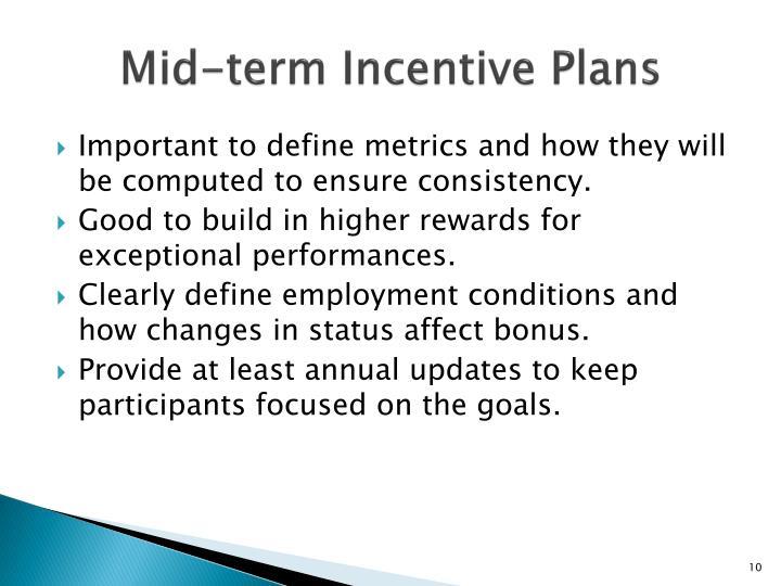 Mid-term Incentive Plans