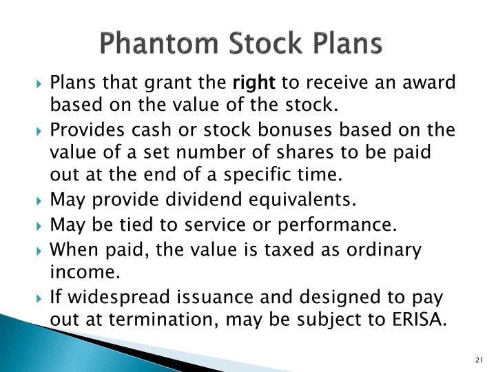 Phantom Stock Plans