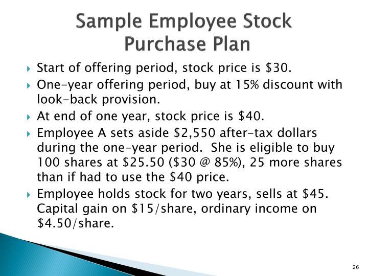 Sample Employee Stock