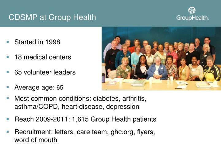 CDSMP at Group Health