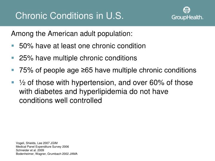 Chronic conditions in u s