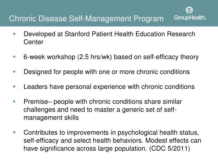 Chronic Disease Self-Management Program