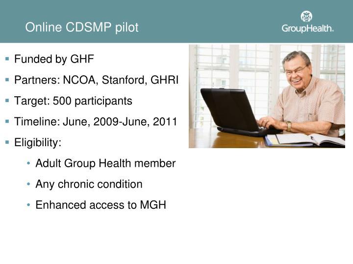 Online CDSMP pilot