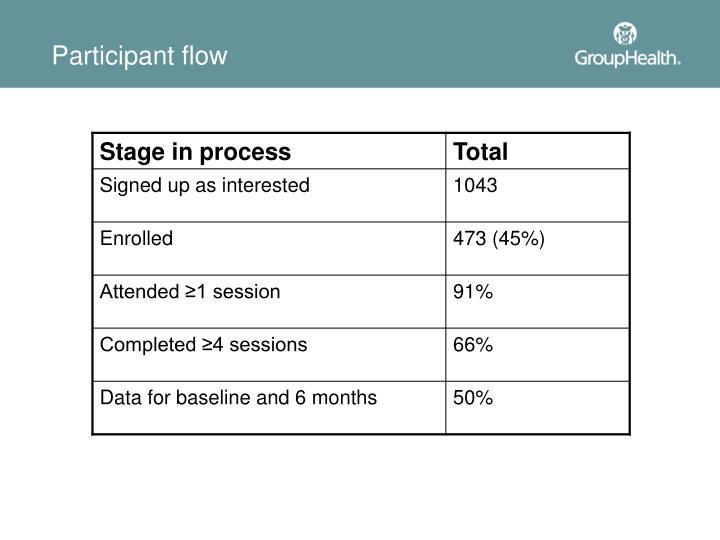 Participant flow