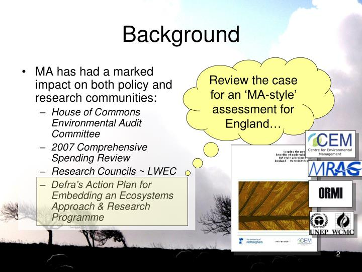 Review the case for an 'MA-style' assessment for England…