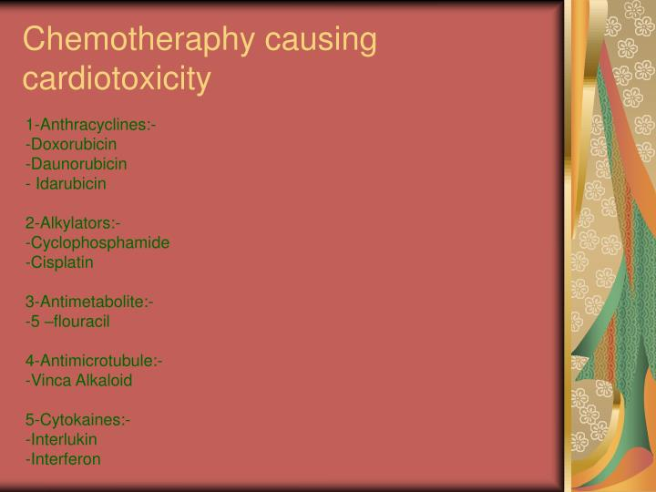 Chemotheraphy causing cardiotoxicity