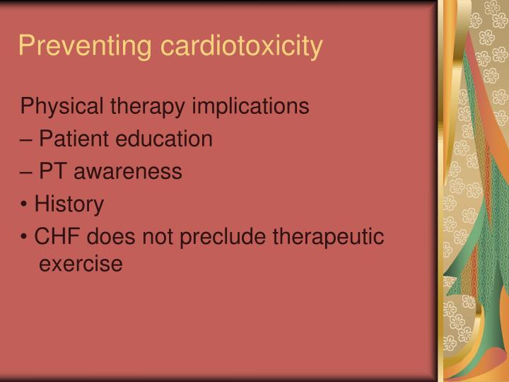 Preventing cardiotoxicity