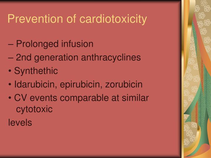 Prevention of cardiotoxicity