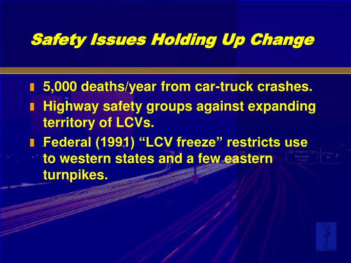 5,000 deaths/year from car-truck crashes.