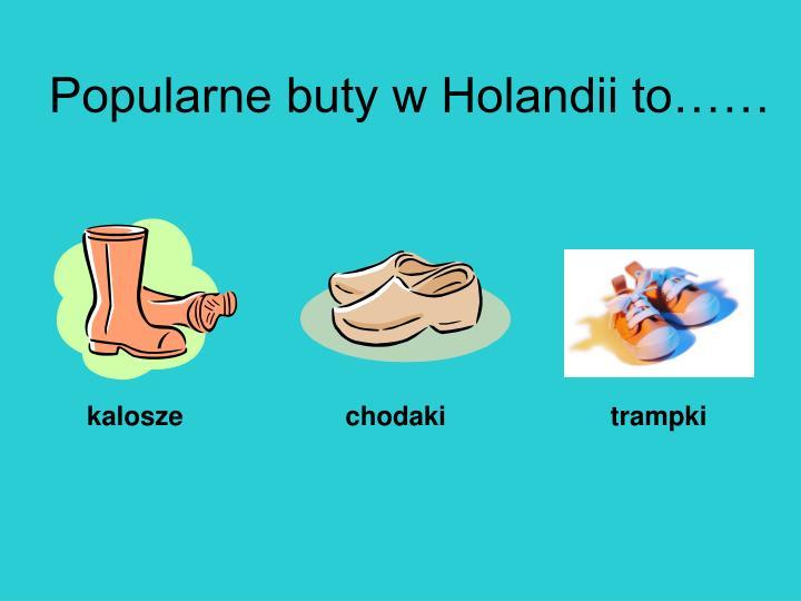 Popularne buty w Holandii to……