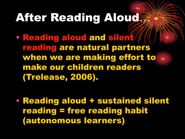 After Reading Aloud
