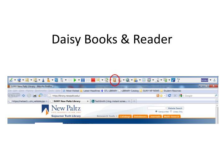 Daisy Books & Reader