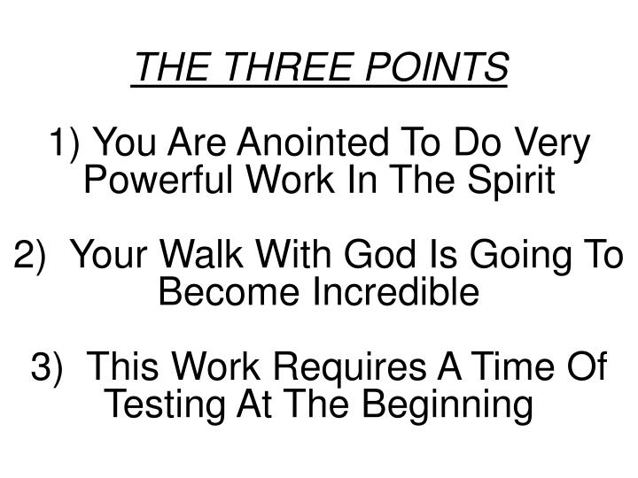 THE THREE POINTS