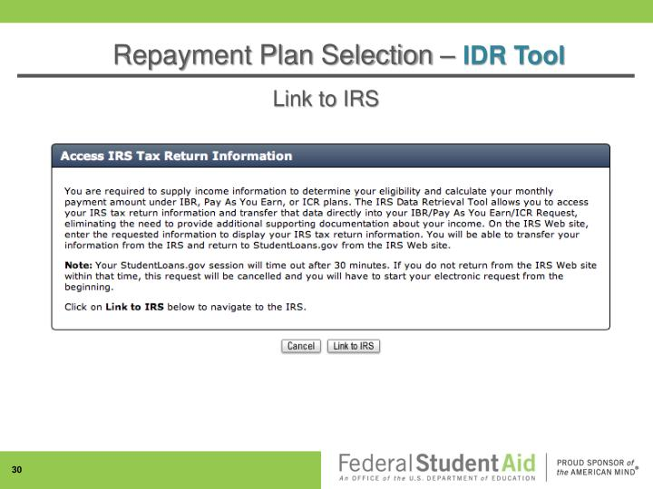 Link to IRS
