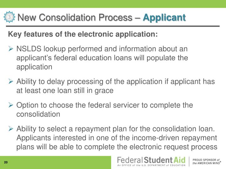 New Consolidation Process –