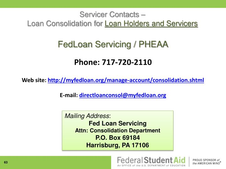 Servicer Contacts –