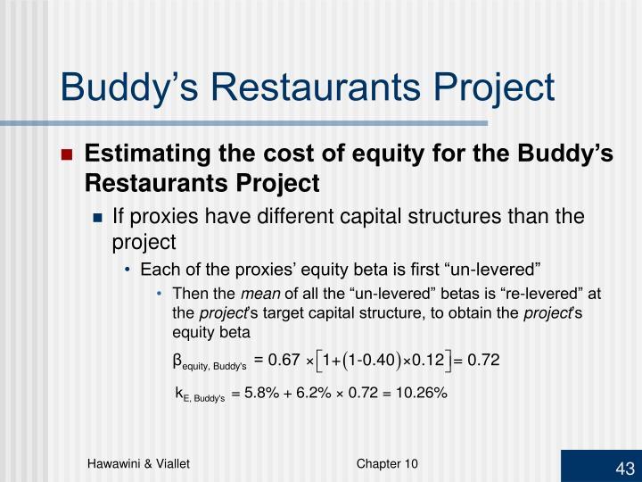 Buddy's Restaurants Project
