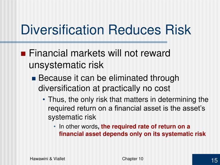 Diversification Reduces Risk