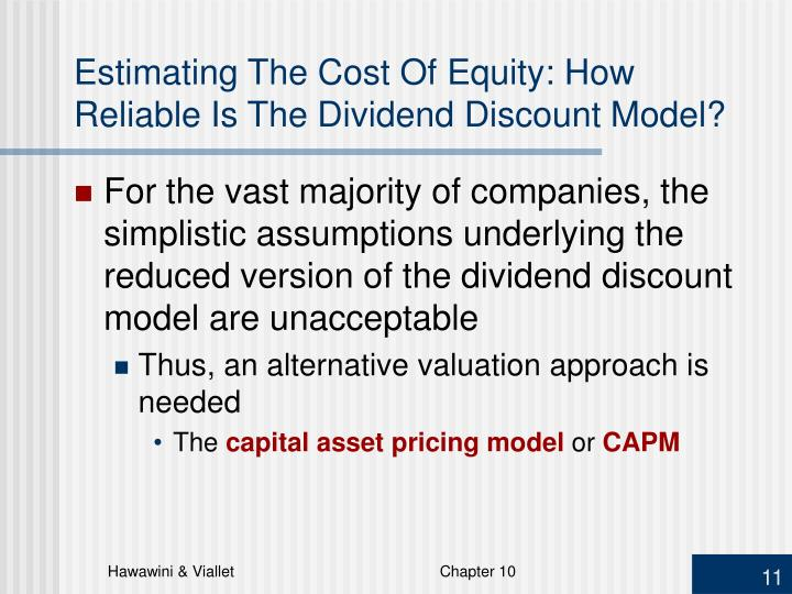 Estimating The Cost Of Equity: How Reliable