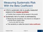 measuring systematic risk with the beta coefficient