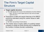 the firm s target capital structure