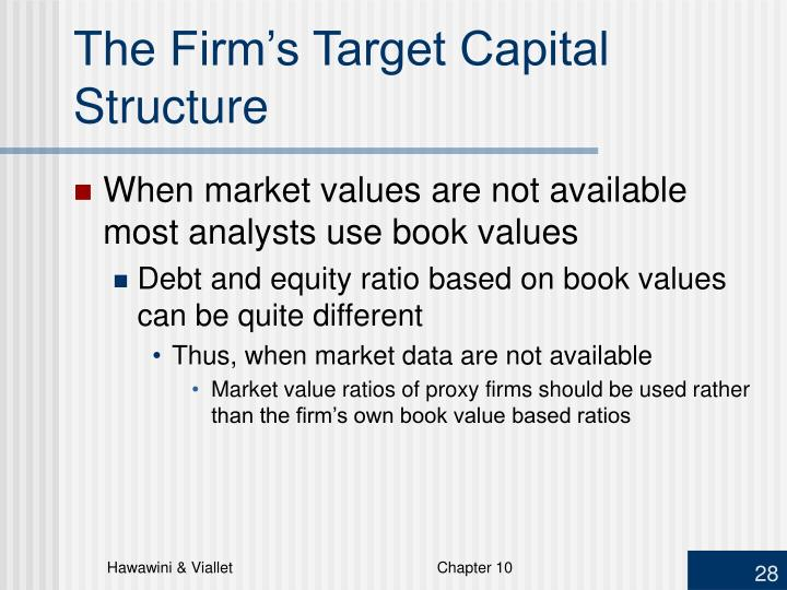 The Firm's Target Capital Structure