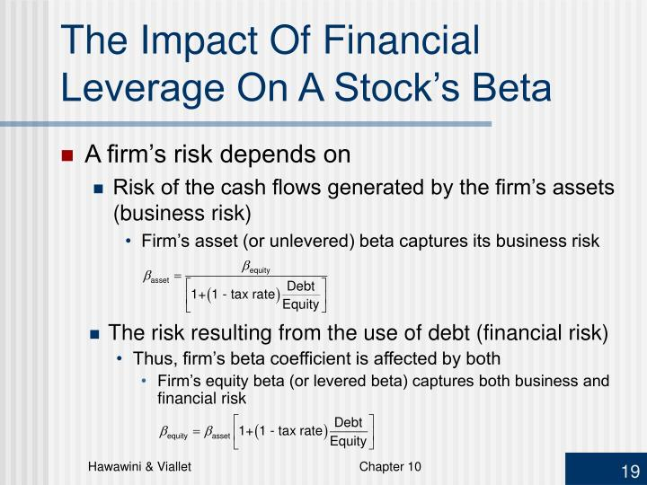 The Impact Of Financial Leverage On A Stock's Beta