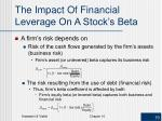 the impact of financial leverage on a stock s beta