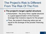 the project s risk is different from the risk of the firm1