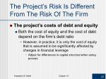 the project s risk is different from the risk of the firm2