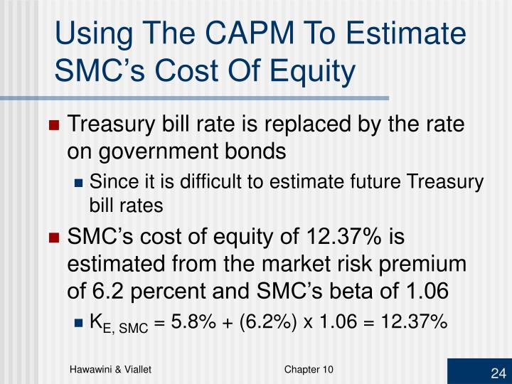 Using The CAPM To Estimate SMC's Cost Of Equity