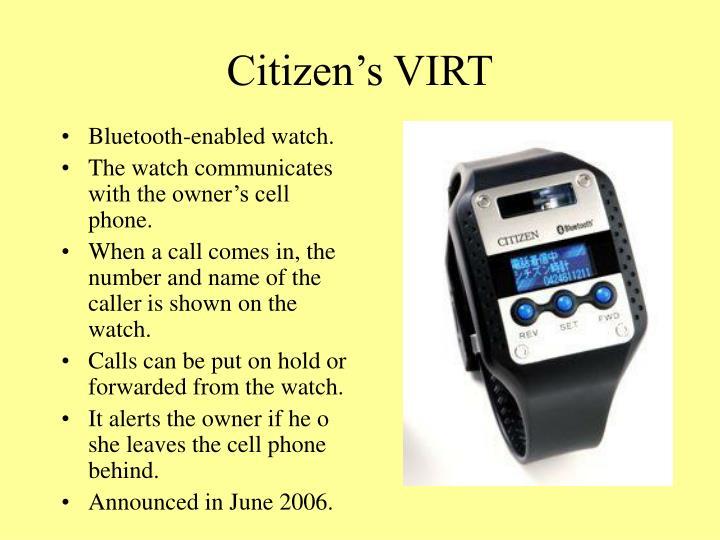 Citizen's VIRT
